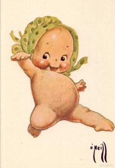 Kewpie postcard art, United States, 1916, by Rose O'Neill.