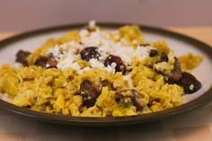 ... Scrambled Eggs with Mushrooms and Feta [Kalyn's Kitchen; #