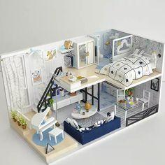 Muñeca bebé 6 cm para muñecas Tube casa de muñecas miniaturas panorámica