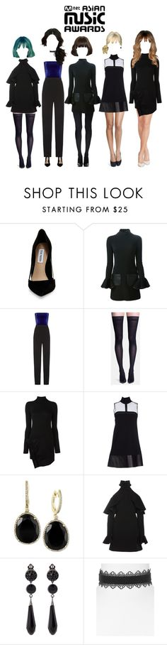 """""""[THROWBACK] Promise at 2014 MAMA Awards"""" by promise-official ❤ liked on Polyvore featuring Steve Madden, David Koma, Galvan, Sigvaris, Dsquared2, Effy Jewelry, Elie Saab, Givenchy and Aqua"""