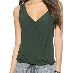 Vita YOUTH Tank ($24) found on Polyvore featuring tops, dark green, youth singlets, cotton tank, youth tank tops and cotton tank tops