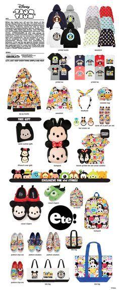 Chocoolate x ete! x Tsum Tsum Collaboration - OMG the hoodie! From Santa Tsum Tsum Party, Disney Tsum Tsum, Disney And Dreamworks, Disney Pixar, Walt Disney, Cute Disney, Disney Style, Disney Toys, Disney Movies