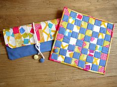 "beginner quilt project -  Checker board using my tutorial and Ellen Luckett Baker's gorgeous fabric line ""Quilt Blocks'!"