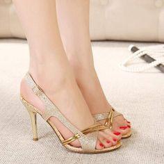 high heels – High Heels Daily Heels, stilettos and women's Shoes Sexy High Heels, Frauen In High Heels, Womens High Heels, Stilettos, Stiletto Heels, Gold Heels, Golden Shoes, Dress Shoes, Shoes Heels
