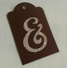 Gift Tag Set of 3 & on brown tags by ThisandThatCrafter on Etsy