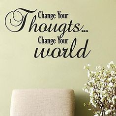 JiuBai® Change Your Thought Wall Sticker Wall Decal, 72CM*42CM – USD $ 23.99