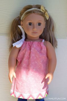 DIY No Sew Dresses for American Girl Dolls
