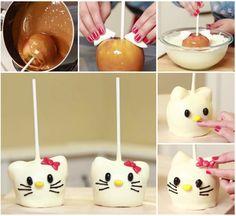 Hello Kitty Caramel Apple