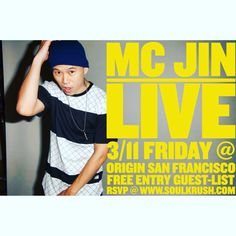 Huge night & we back w MC Jin @ Soul Krush on 3/11 Friday OMGF @ Origin San Francisco! Come party with MC JIN + enjoy his live performances.  _ Limited FREE B4 1030PM entry rsvp here: http://eepurl.com/bNQU0n or www.SOULKRUSH.com _ Inquiries + VIP/Table Call or Text 1-669-238-1801 Kakaotalk: SOULKRUSH WeChat: SOULKRUSHENT _ #soulkrush #omgf #march #mcjin #jin #mc #live #originsf #sf #sanfrancisco #nightlife #performance #soul #krush #소크 #엠씨진 #라이브 #샌프란시스코 #오리진 #소울크러쉬