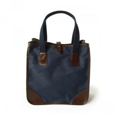 L9070 LARGE TOTE / CANVAS (NAVY/HAVANA) \41,040