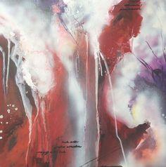 Abstraktes Acrylgemälde auf Leinwand, 60x60cm Unikat