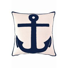 Make a splash on a sofa with a large anchor motif. | $75