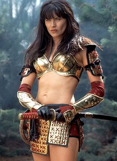 Female body armor: covers less, but is more effective.  How long before you saw the katana?