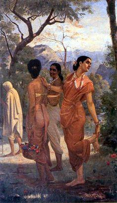 Raja Ravi Varma's Paintings: Sakunthala