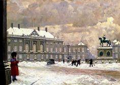Paul Gustave Fischer (1860-1934):   Throwing Snow