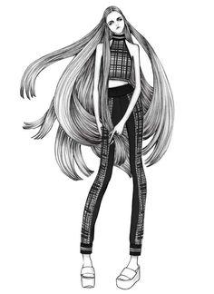 Issa Grimm Illustration for fashionfeud.com