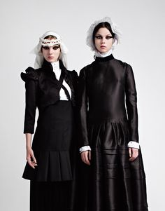 An Exquisite Corpse of the 2008/09 Fall Winter Collections, shot by Horst Diekgerdes for Purple Fall 2008