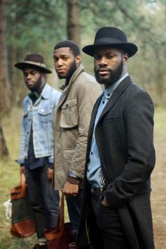 Bearded men of color. Such style.