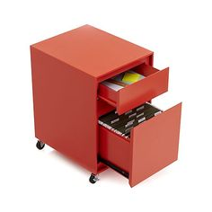 Milton Paprika Filing Cabinet in Filing Cabinets & Carts | Crate and Barrel