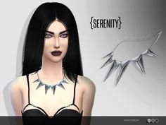 The Sims Resource: Hightech Necklace by Serenity-cc • Sims 4 Downloads