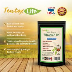Teatox Life also provides the Pregnancy PCOS and Uterus support Tea which is natural and herbal. It includes raspberry leaf and nettle leaf which support to healthy female system and make prepare for labor and maternity.