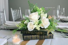 Image result for wedding centerpieces with books