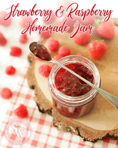 With so many strawberries and raspberries around it's the perfect time to make jam! I've been experimenting with jams and this is the best I have made. Summer Treats, Summer Fruit, Summer Food, Winter Food, Raspberries, Strawberries, Easy Jam Recipe, Strawberry Jam Recipe, Jam Recipes