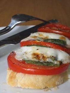 Recette de Tartines Italiennes (weight watchers propoints) total 8pp  2 tartines de pain complet 4 pp Tomates 0pp Jambon cru  1tranche 1pp  Mozarella 45g 3pp