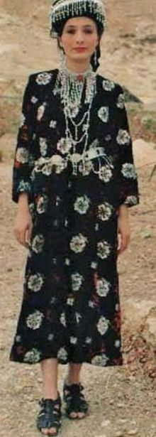 Assyrian (Chaldean) traditional festive village outfit. From Tiyari, northern Iraq.