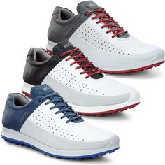 Amazing Ecco 2016 Mens Biom Hybrid 2 Waterproof Hydromax Yak Leather Golf Shoes - All About Golf Womens Golf Wear, Womens Golf Shirts, Golf Attire, Golf Outfit, Mens Fashion Shoes, Golf Fashion, Fashion Outfits, Golf Costumes, Ladies Golf Bags