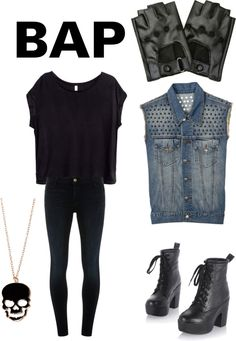 """Outfit inspired by BAP """"Warrior (japanese version)"""" MV"""