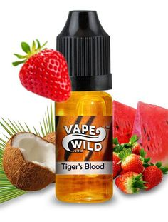 Tiger's Blood ejuice is an amazing sweet-tart strawberry and juicy watermelon with hints of coconut spread throughout. Hot Sauce Bottles, Drink Bottles, Vape Facts, E Juice Recipe, Bad Room Ideas, Vape Smoke, Juice Flavors, Buy Edibles Online, Vape Juice