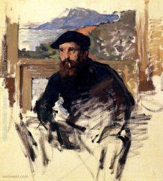 self portrait claude monet painting