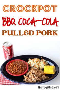 Crockpot BBQ Coca-Cola Pulled Pork Recipe from TheFrugalGirls.com