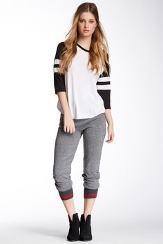 Heathered Sweater Knit Basic Jogger (Juniors) by Tractr on @nordstrom_rack