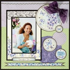 Paper Wishes®, Scrapbooking Classes and Card Making Classes using Wildflowers Paper and Hunkydory True Blue Card Collection.