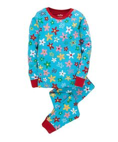 Take a look at this Blue Crafty Flower Pajama Set - Toddler & Girls by Hatley on #zulily today! $14.99