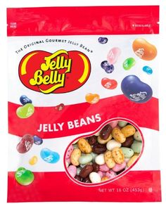 Jelly Belly Blueberry jelly beans in a 16 oz re-sealable bag. Portable and convenient size for candy. Flavored with real blueberry puree. Banana Jelly, Blueberry Jelly, Peach Jelly, Apple Jelly, Top Banana, Red Jelly, Jelly Bean Game, Jelly Bean Flavors, Gourmet Jelly Beans