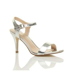 WOMENS LADIES HIGH HEEL BUCKLE STRAPPY BASIC EVENING SANDALS SHOES SIZE 5 38