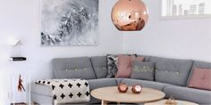 Rose gold living room decor pastel living room rose gold design voice gray pink and green Pastel Living Room, Living Room Grey, Living Room Interior, Living Room Decor, Interior Livingroom, Living Room Color Schemes, Living Room Colors, Living Room Designs, Colour Schemes