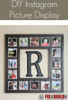 build a diy instagram picture display, crafts, diy, wall decor, woodworking projects