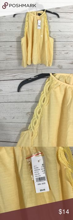 "Kendall & Kylie Pacsun NWT Yellow Tank Top Small New with tags 50% Rayon 50% Polyester  Bust 40"" Length Neck to Bottom 18"" Kendall & Kylie Tops Tank Tops"