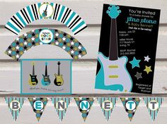 Guitar Baby Shower Package on Etsy, $34.99