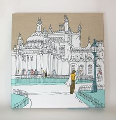 Brighton Pavilion; freehand machine embroidery - amazing x