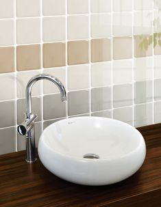 Small Tiles | OPULENTO | Wall, 10x10 cm, Glossy #egeseramik #perfectbeauty  #ceramic  #tiles #design #homedesign #smalltiles Small Tiles, Leroy Merlin, Sink, House Design, Wall, Home Decor, Bathroom, Blue, Sink Tops
