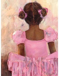 Dress up a bare wall with the Perfect Ballerina - African American Canvas Wall Art from Oopsy Daisy. Canvas wall art is perfect for adding color and style to bedrooms, playrooms, nurseries and even bathrooms! Ballerina Tutu, Black Ballerina, Ballerina Bedroom, Ballerina Painting, Daisy Painting, 2 Kind, Drawn Art, Black Artwork, Wow Art