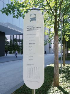 Bus Stop Sign, Novartis Campus (Mifflin-Schmid Design)