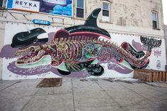 Nychos in Brooklyn Reyka Vodka, New York Street Art, Bbq Bar, Bushwick Brooklyn, Graffiti Tagging, Dive Bar, Fair Grounds, Awesome, Inspiration