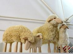 Sheep Stools by Hanns-Peter Krafft via smudgetikka: Each an individual with character! #Sheep_Stools #Hanns_Peter_Krafft #smudgetikka