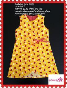 Ready to ship Ladybug Dress  www.facebook.com/SewGrammySew